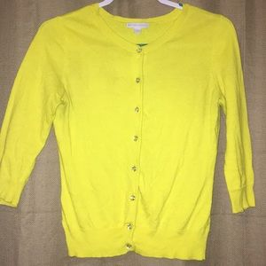 Yellow Cardigan - New York & Co